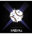 Abstract baseball ball of ink blots vector image