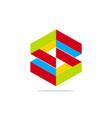 abstract shape construction technology logo vector image