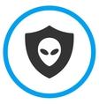 Alien Protection Icon vector image vector image