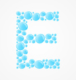 Alphabet Letter E vector image vector image