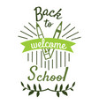 back to school badge cool trendy school vector image