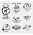 Back to School badges logos and labels for any use vector image vector image