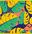 beautiful seamless tropical jungle floral graphic vector image vector image