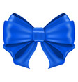 blue ribbon bow shiny 3d symbol vector image vector image