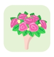 Bouquet of flowers cartoon icon vector image vector image