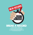 Break A Record vector image