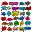 bubbles speech stickers vector image vector image
