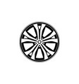 car rim icon isolated on white background vector image