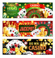 casino poker wheel fortune dice gamble games vector image vector image