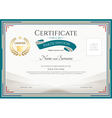 Certificate of participation template vector image vector image