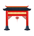 chinese gate and pendant vector image vector image