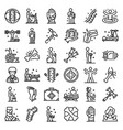 chiropractor icons set outline style vector image vector image