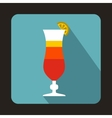 Colorful cocktail icon in flat style vector image