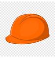 construction helmet icon cartoon style vector image vector image