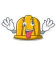 crazy construction helmet mascot cartoon vector image