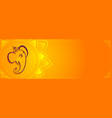 creative lord ganesha banner with text space vector image vector image