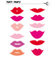 cute printable photo booth props lips vector image vector image