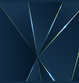 dark blue background with luxury polygonal pattern vector image vector image