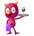 devil butler on white background vector image vector image