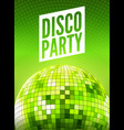 disco dance party background flyer poster vector image vector image