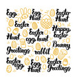 easter egg hand drawn lettering vector image