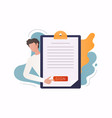electronic signature concept business contract vector image