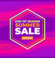 end season summer sale colorful banner vector image vector image
