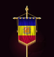 flag of andorra festive vertical banner wall vector image