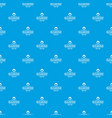 flask chemical pattern seamless blue vector image vector image