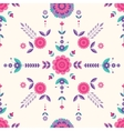 flat geometric floral pattern vector image vector image
