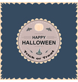 Halloween round circle logo sign with pumpkin vector image