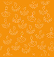 hand drawn seamless pattern with diwali vector image vector image