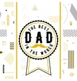 Happy fathers day wishes design background vector image vector image