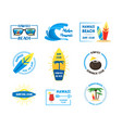 hawaii badges or labels set vector image vector image