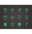 Help and FAQ icons vector image vector image