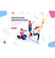 idea advancement man cutout vector image