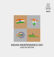 indian independence day design pack vector image