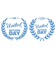 International Day of UN Peacekeepers Lettering vector image vector image