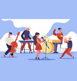 jazz band concert music band musicians singing vector image