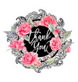 lace wreath with camellia flowers vector image