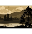 Landscape Trees Mountains and River vector image vector image