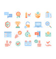 large set colored point icons with check marks vector image vector image