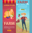 light farming vertical banners vector image vector image