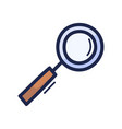 magnifying glass doodle a hand drawn doodle vector image