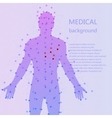 Medical background Human anatomy vector image
