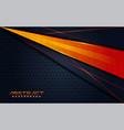 modern dark navy background and orange lines in vector image vector image