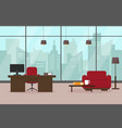 modern living room or office vector image vector image