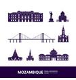 mozambique travel destination vector image vector image