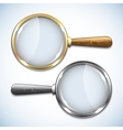 Pair of magnifying glasses isolated on white vector image vector image