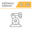 robotic arm line icon vector image